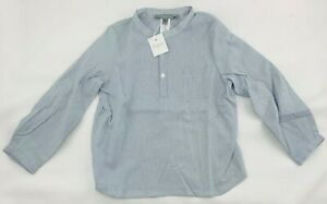 NWT New Bonpoint Size 3 Blue Striped Long Sleeve Button Down Shirt FREE SHIPPING