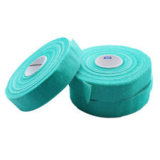 """SAFETY FINGER TAPE SELF ADHESIVE GAUZE GREEN PACK 3 ROLLS 3/4""""x90 FEET JEWELRY"""