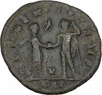 Probus  receiving globe from Jupiter Authentic Ancient  Roman Coin i42443