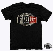Triumph Bsa Harley Chopper Bobber Shirt The Factory Metal Works Vintage GLO XL