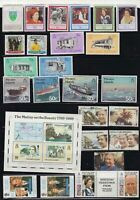 Pitcairn Islands page of mint stamps circa 1980's