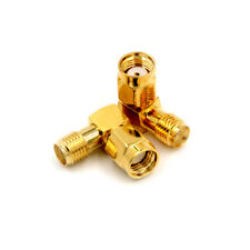2x Adapter 90° RP.SMA male jack to SMA female jack connector right angle M/F MO