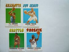 TOPPS 2001 NBA Basketball Heritage Collection Cards (lot of 4)
