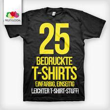 25 bedruckte T-Shirts Siebdruck  T-Shirts bedrucken  T-Shirt Fruit of The Loom