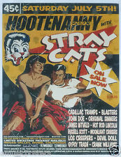 "STRAY CATS 2003 ""HOOTENANNY"" CONCERT TOUR POSTER -Brian Setzer, Rockabilly Music"