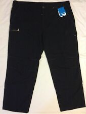 Men 44 X 30 COLUMBIA Sportswear LOCK N LOAD BLACK CARGO PANTS Hunting COTTON NWT