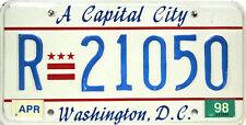 Washington D.C.License Plate, Original Nummernschild  USA  R 21050  ORIGINALBILD