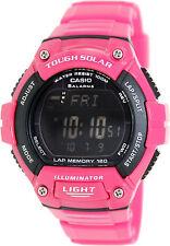 Casio Solar Digital Watch, World Time, 120-Lap, 100 Meter, 5 Alarms, WS220C-4BV