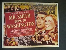 Mr Smith Goes To Washington  - Movie Poster Reproduction - James Stewart - Capra
