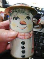 "New ListingCap-tins 4"" snow man can designed by Daher"