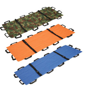 Medical Soft Emergency Folding Stretcher Bed Pain Relief Nylon First Aid C