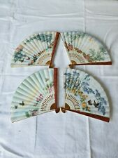 Vintage 4pc Bradford Exchange Land Of Enchantment Visions Japanese Fan Plates