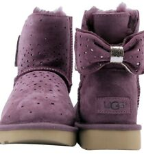 UGG STARGIRL BOW MINI 1098475 EXCLUSIVE PORT SIZE 6 AUTHENTIC WOMAN'S BOOTS NEW