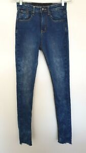 ONE TEASPOON Ladies Designer Medium Wash Skinny Leg Jeans size XS EUC