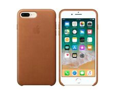 Original Apple iPhone 7 Plus iPhone 8 Plus Leather Case Snap Cover Black Brown