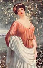 Art Painting Postcard S. Pohl: Wann der Flieder blueht, Mikor az orgona viragzik