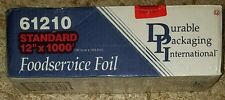 """Durable Packaging Standard Aluminum Foil Roll  12"""" Width x 1000 Length"""