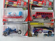 MATCHBOX FIRE BOAT, POLICE BUS & OTHER EMERGENCY MODELS SET OF 4  # 52
