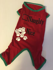 DOG SHIRT with NAUGHTY/NICE CHRISTMAS DESIGN SIZE MED. #21242