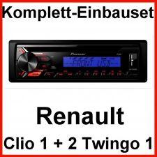 Pioneer deh-1900ubb Autoradio Cd usb mp3 kit de montage pour RENAULT CLIO TWINGO 1 2