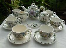 Portmeirion Botanic Garden Tea Set With 2.25pt Teapot For 6