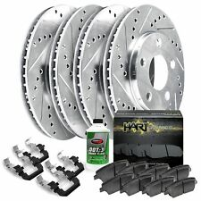 Fit 2012-2015 Volkswagen Passat HartBrakes Full Kit Brake Rotors+Ceramic Pads