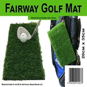 Winter Rules Golf Fairway Chipping Mat Protect Your Course Spring Clip Quality