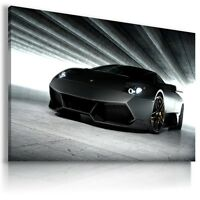 LAMBORGHINI MURCIELAGO BLACK Car Large Wall Art Canvas Picture AU522 MATAGA .