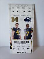 Michigan vs. Penn State 2014 Football Ticket Stub
