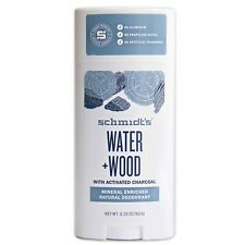 Schmidt's Natural Deodorant Water+Wood  NEW 3 pack 3.25OZ., Certified Vegan Free