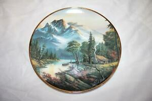 Collector Plate Franklin Mint MOUNTAIN RETREAT by R.L.Huff # K8569