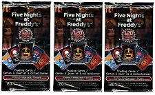 3x FNAF FIVE NIGHTS AT FREDDY'S OFFICIAL TRADING CARD BOOSTER PACKS SEALED