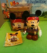 "Disney Vinylmation 3"" Park Set 1 Pirate Mickey Mouse Japan with Tin & Card"
