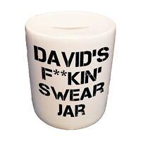Personalised Adults Swear Jar - Ceramic Money Box Piggy Bank Saving Fund Gift