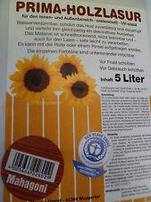 (GP.3,00€/L)  5 L Holzschutzlasur Lasur Holzlasur Farbe Zaunlasur ++ Mahagoni ++
