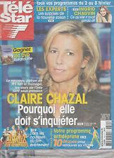 Télé Star N°1635 - 28/01/2008 - Claire Chazal - Ingrid Chauvin - Johnny Depp
