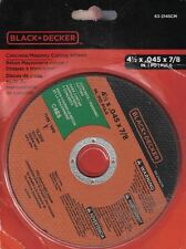 Black & Decker Concrete Masonry Cutting Wheels 63-2145CM 4.5x.045x7/8 NIP