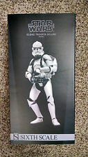 Sideshow Star Wars Deluxe Clone Trooper Shiny Sixth Scale Figure