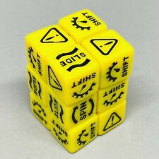 12x Gaslands Dice - Yellow with Black Marks - Skid/Handling Dice 16mm