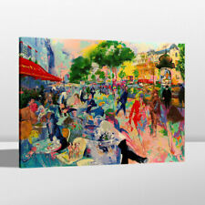 Print Home Wall Decor Art Oil Painting LeRoy Neiman Cafe Fouquet's Canvas 24x30