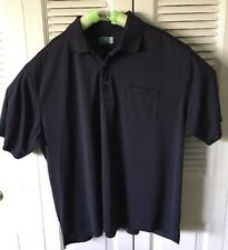 Ben Hogans Mens 3XL Polo Black Golf Short Sleeve Performance Pocket