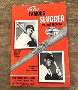 "Vintage '70 ""Famous Louisville Slugger Yearbook""PETE ROSE & ROD CAREW; excellent"