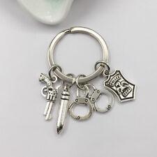 Police Badge Keychain , Handcuffs Keychain, Gun Keychain, Bullet Keychain