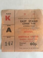 Ticket : Arsenal V. Sheffield United 24/08