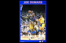 JOE DUMARS Detroit Pistons Original 1989 Starline NBA Basketball Action POSTER