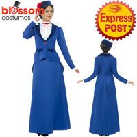 CA351 Victorian Nanny Mary Poppins English Maid Ladies Costume Book Week Dress