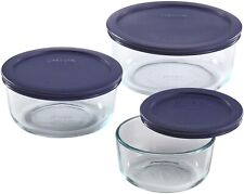 Pyrex Simply Store Meal Prep Glass Food Storage Containers (6-Piece Set, Bpa Fre