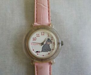 Disney Time Works EEYORE CHARACTER Watch Acrylic case-New battery