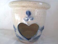 shadowlawn stoneware candleholder blue design