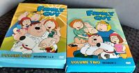 2 Dvd Lot - Family Guy Volumes one and Two ( seasons 1-3 ) 7 disc set